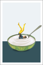 Premium poster Yoga in my yogurt