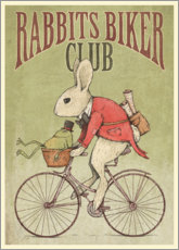 Foam board print  Rabbits Biker Club - Mike Koubou