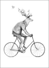 Acrylic print  Even a Gentleman rides a bike - Mike Koubou