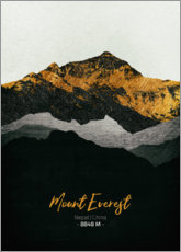 Wood print  Mount Everest - Tobias Roetsch