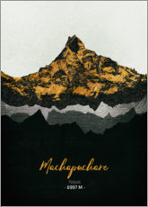 Wood print  Machapuchare - Tobias Roetsch