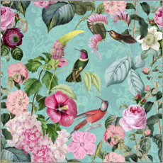 Foam board print  In the paradise of the hummingbirds - Andrea Haase