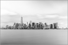 Wood print  Manhattan Skyline - nitrogenic