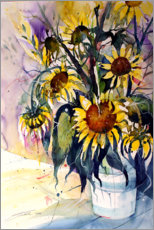 Premium poster Sunflowers in vase