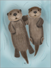 Premium poster Otter siblings