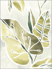 Canvas print  Batik leaves I - June Vess
