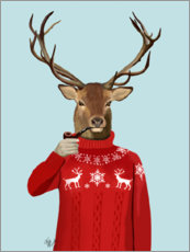 Premium poster Deer in sweater