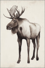 Premium poster  Moose in the far north - Grace Popp