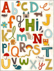 Canvas print  Letters of the Alphabet - June Vess