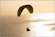 Premium poster Paraglider over the sea