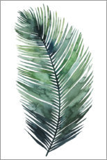 Acrylic print  Palm leaf watercolor I - Grace Popp