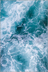 Premium poster Deep blue waves