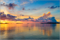 Canvas print  Sunrise in the tropical sea - Fabio Lamanna