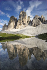 Premium poster The Three Peaks in the Dolomites