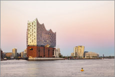 Premium poster Elbphilharmonie in the evening