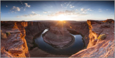 Premium poster Panoramic of Horseshoe bend, Arizona, USA