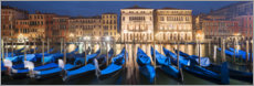 Premium poster  Gondolas at night, Venice - Tobias Richter