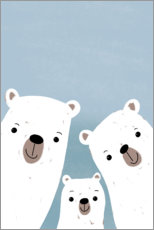 Premium poster Polar bears family
