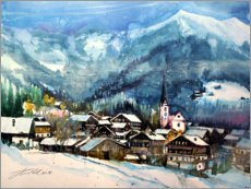 Premium poster  Alpbach in winter, Tyrol - Johann Pickl