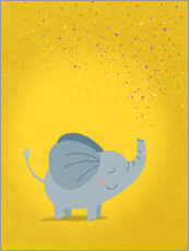 Wall sticker  Stardust elephant - Julia Reyelt