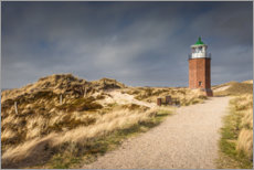 Foam board print  Lighthouse on the Red Cliff, Sylt - Christian Müringer