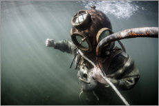 Canvas print  Old Industrial Diver - nitrogenic