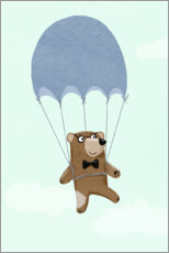 Premium poster  Bear with parachute - Julia Reyelt