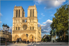 Premium poster Notre-Dame in the sunrise