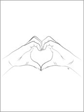 Premium poster  Heart symbol - Martina illustration