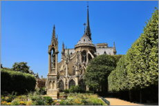 Acrylic print  In the garden of Notre-Dame - fotoping