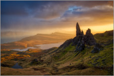 Premium poster Old Man of Storr at sunset