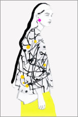 Wall sticker  Yellow skirt - Sarah Plaumann