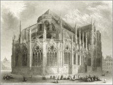 Premium poster  Notre Dame Cathedral, East End - Hablot Knight Browne