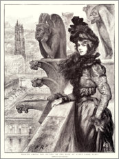 Acrylic print  Beauty and the beasts on the roof of Notre Dame - Charles Paul Renouard