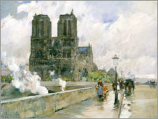 Gallery print  Notre Dame - Frederick Childe Hassam