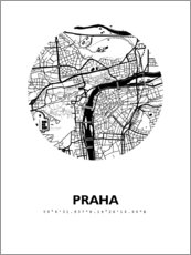 Wall sticker City map of Prague