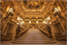 Premium poster Staircase of the opera in Paris
