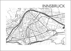 Premium poster City map of Innsbruck