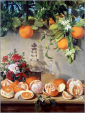 Premium poster  Still life with oranges - Rafael Romero Barros