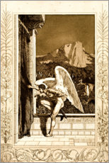 Wood print  Cupid coming, sheet 12 from Cupid and Psyche - Max Klinger