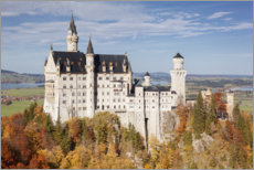 Foam board print  Neuschwanstein in autumn I - Tobias Richter