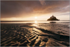 Acrylic print  Sunrise over Mont-Saint-Michel, Normandy - Tobias Richter