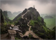 Premium poster View of the Hang Mua peak, Vietnam