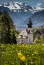 Premium poster  Church Maria Gern in the Berchtesgaden - Fotomagie