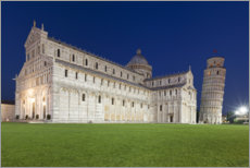 Premium poster  Cathedral and Leaning Tower of Pisa - Tobias Richter