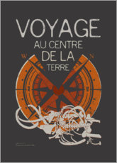 Canvas print  Jules Verne's Journey to the Center of the Earth - Timone
