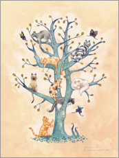 Premium poster The Tree of Cat Life