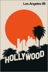 Wood print  Hollywood, Los Angeles 89 - Bo Lundberg