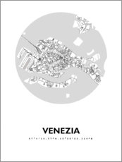 Premium poster City map of Venice