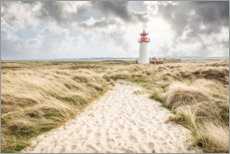Wood print  Sand path to the lighthouse List-West on Sylt - Christian Müringer